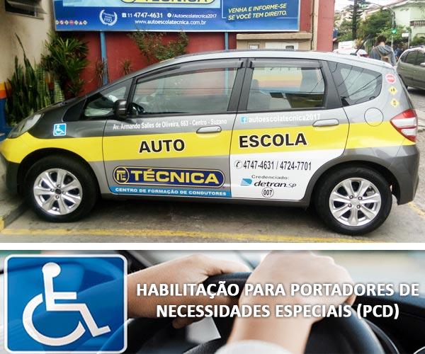 Habilitação para portadores de necessidade especiais (PCD)